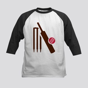 Cricket bat stumps Kids Baseball Jersey
