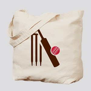 Cricket bat stumps Tote Bag