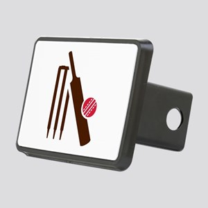 Cricket bat stumps Rectangular Hitch Cover