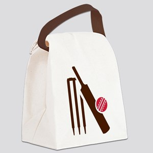 Cricket bat stumps Canvas Lunch Bag