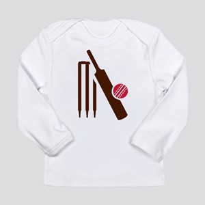 Cricket bat stumps Long Sleeve Infant T-Shirt