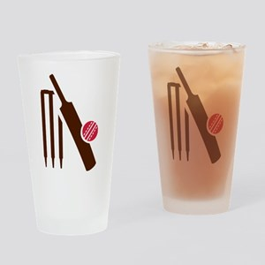 Cricket bat stumps Drinking Glass