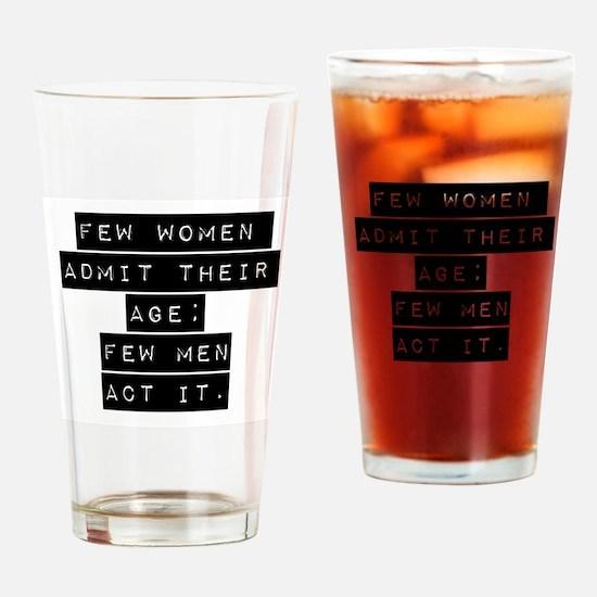 Few Women Admit Their Age Drinking Glass