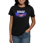 USAF Heart Flag Women's Dark T-Shirt