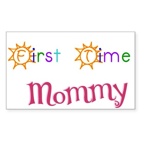 First Time Mommy Rectangle Sticker