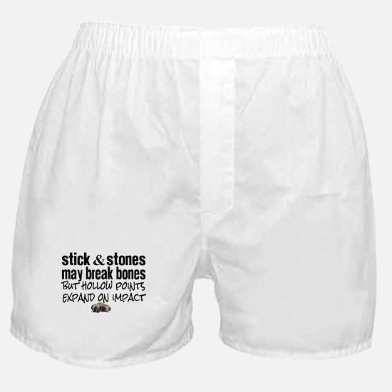 Sticks & Stones - Hollow Point Boxer Shorts