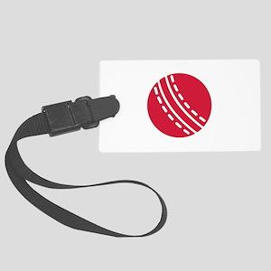 Cricket ball Large Luggage Tag