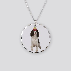 Springer Spaniel Birthday Pa Necklace Circle Charm