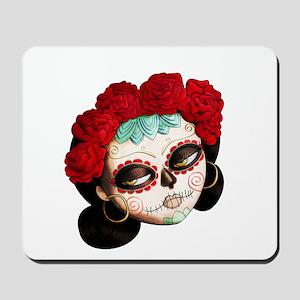El Dia de Los Muertos Girl Mousepad