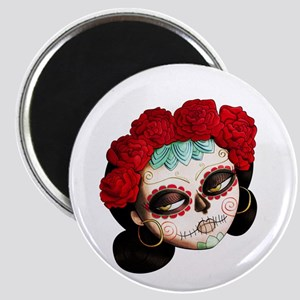 El Dia de Los Muertos Girl Magnets