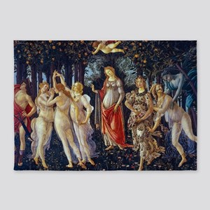 Botticelli: La Primavera 5'x7'Area Rug