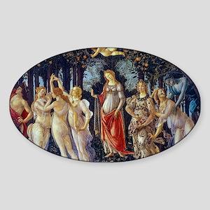 Botticelli: La Primavera Sticker (Oval)