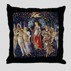 Botticelli: La Primavera Throw Pillow