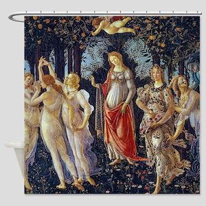 Botticelli: La Primavera Shower Curtain