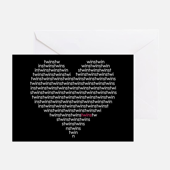 (heart) TWINS - Greeting Cards (Pk of 10)
