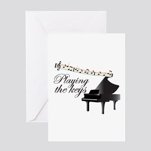 Playing The Keys Greeting Cards