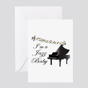 Im A Jazz Baby Greeting Cards