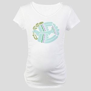 White Peace Dove Maternity T-Shirt