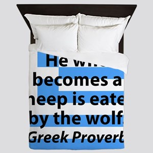 He Who Becomes A Sheep Queen Duvet
