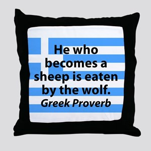He Who Becomes A Sheep Throw Pillow
