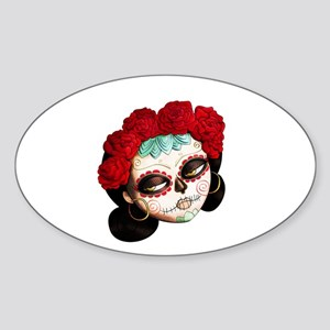 El Dia de Los Muertos Girl Sticker