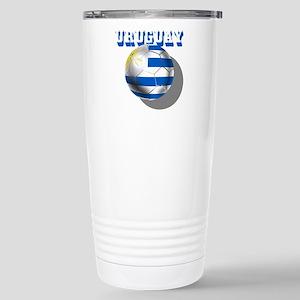 Uruguay Soccer Ball Travel Mug