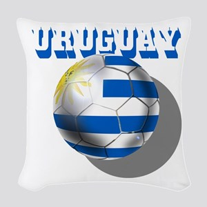 Uruguay Soccer Ball Woven Throw Pillow