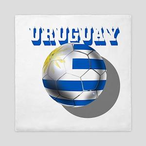 Uruguay Soccer Ball Queen Duvet