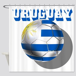 Uruguay Soccer Ball Shower Curtain