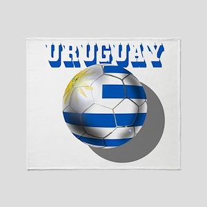 Uruguay Soccer Ball Throw Blanket