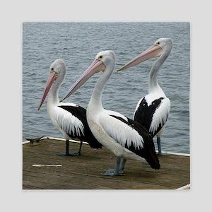 Three Gorgeous Pelicans Queen Duvet