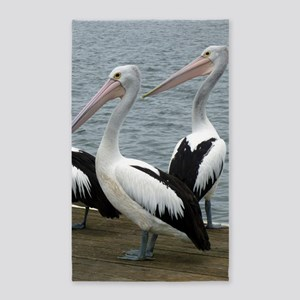 Three Gorgeous Pelicans 3'x5' Area Rug