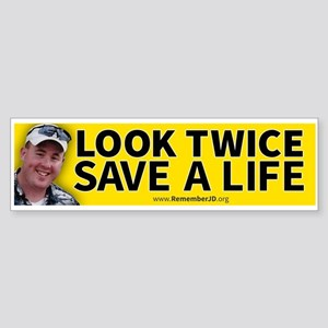 Look Twice Save a Live...Remember Sticker (Bumper)