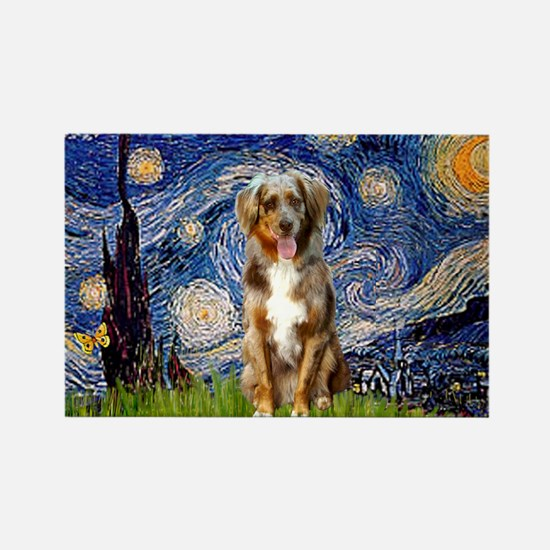 Starry Night Aussie (RM) Rectangle Magnet