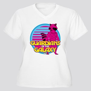 Rocket Pink Women's Plus Size V-Neck T-Shirt