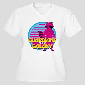 Rocket Pink Women's Plus Size V-Neck T-Shirt
