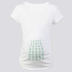Pregnancy Countdown Maternity T-Shirt