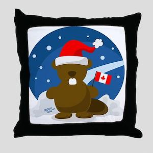 Canada Christmas Throw Pillow