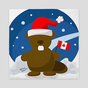 Canada Christmas Queen Duvet