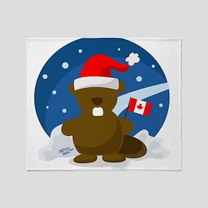 Canada Christmas Throw Blanket