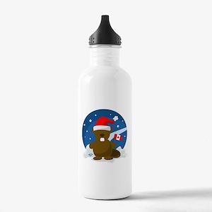 Canada Christmas Water Bottle
