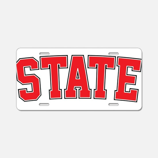 State - Jersey Aluminum License Plate