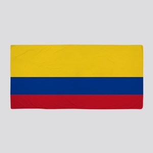 Flag of Colombia Beach Towel