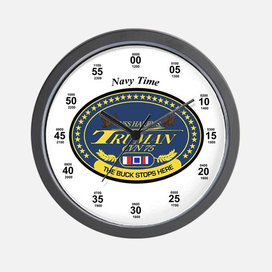 Uss Harry S. Truman Cvn-75 Wall Clock
