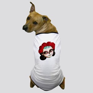 El Dia de Los Muertos Girl Dog T-Shirt