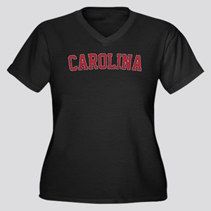 Carolina Jer Women's Plus Size V-Neck Dark T-Shirt
