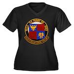 USS NEWMAN K Women's Plus Size V-Neck Dark T-Shirt