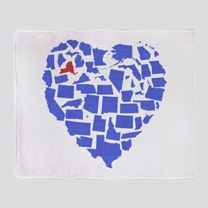 New York Heart Throw Blanket