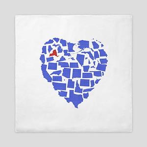 New York Heart Queen Duvet