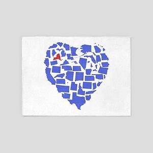 New York Heart 5'x7'Area Rug